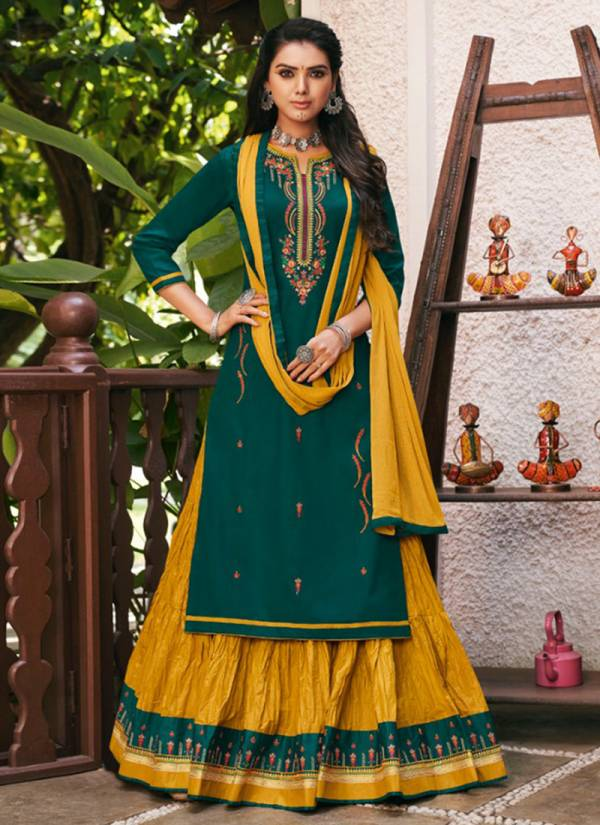 Kessi Blossom Vol 13 Series 1841-1844 Jam Silk Cotton With Fancy Embroidery Work Stylish Look Suits Collcetion