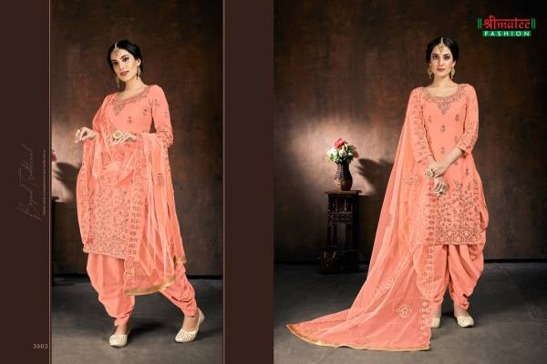 Shreematee Fashion Bebo Vol 3 Series 3001-3004 Jam Cotton With Embroidery & Stone Work Festival Wear Readymade Patiyala Suits Collection