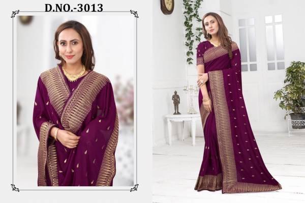 Nari Fashion Cavlin Blooming Vichitra Silk Daily Wear Sarees Collection