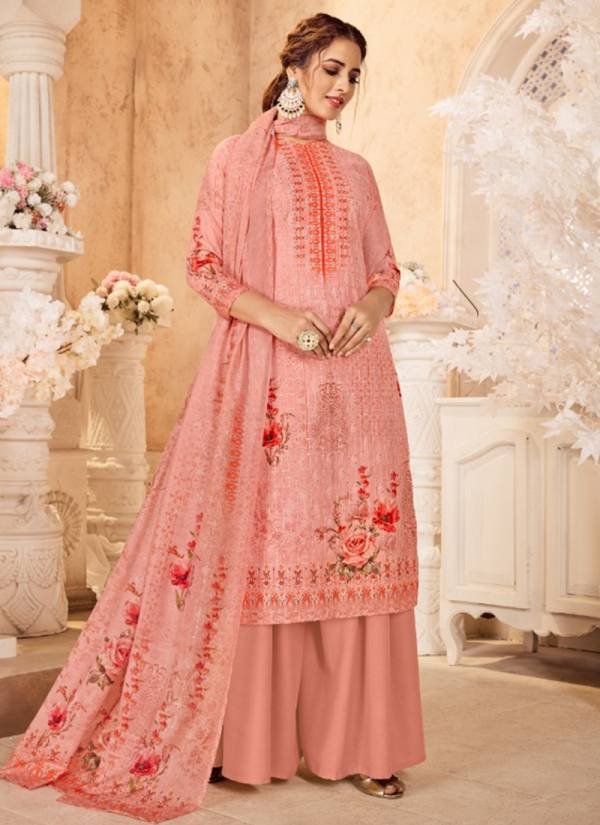 Aanzara Acme Weavers Nitaraa Series 1001-1006 Cotton With Multi Sequence Work New Designer Palazzo Suits Collection