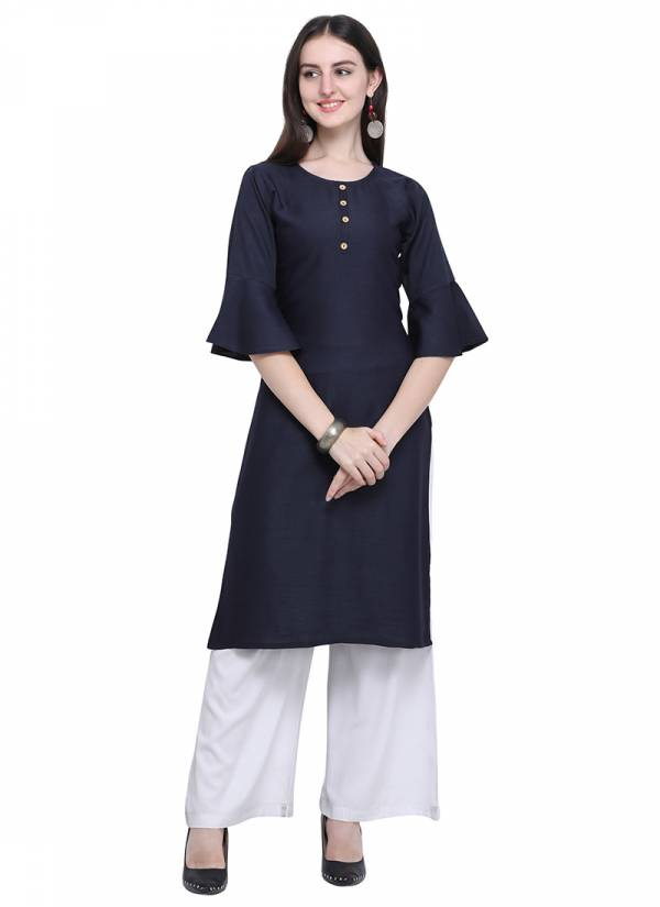Velentino Trend Series 442-453 Latest Designer Super Cotton And Rayon Embroidery Work Casual Wear Kurtis With Palazzo Collection