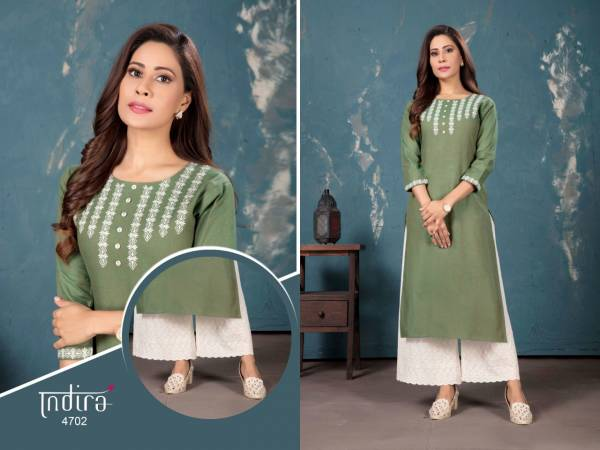 Indira Apparel Gulberg Handloom Cotton Kurti With Palazzo Collection