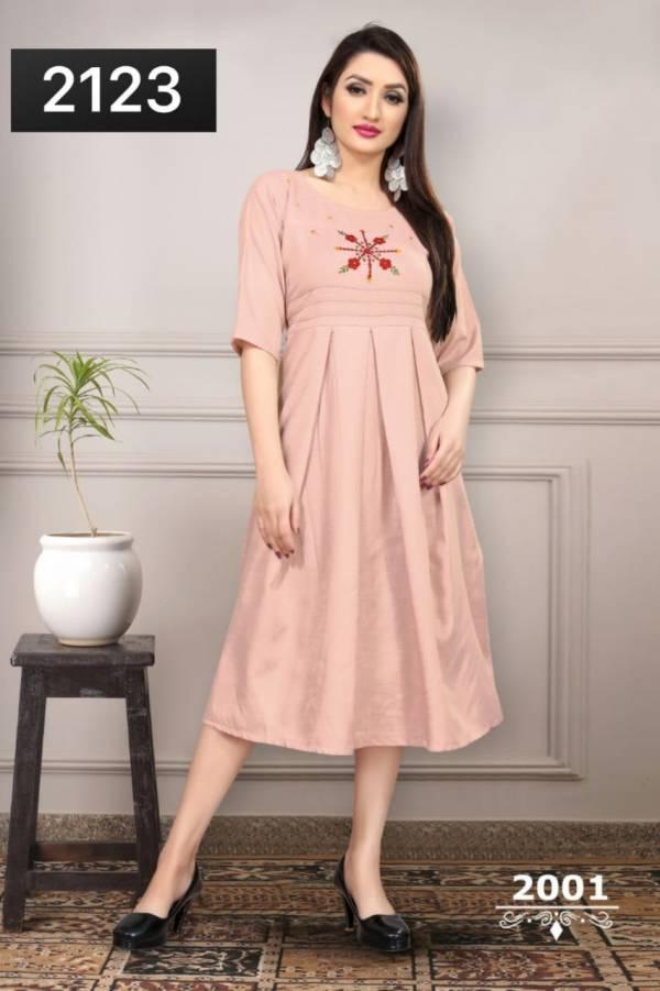Glam Elegance Gems Vol 1 Series 2001-2006 Heavy Ruby Slub Cotton With Fancy Addition Work Kurti Collection