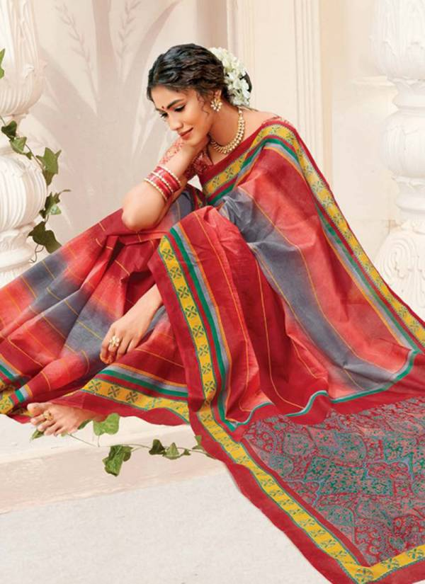 Deeptex Prints Mother India Vol 38 Pure Cotton New Designer Casual Wear Sarees Collection
