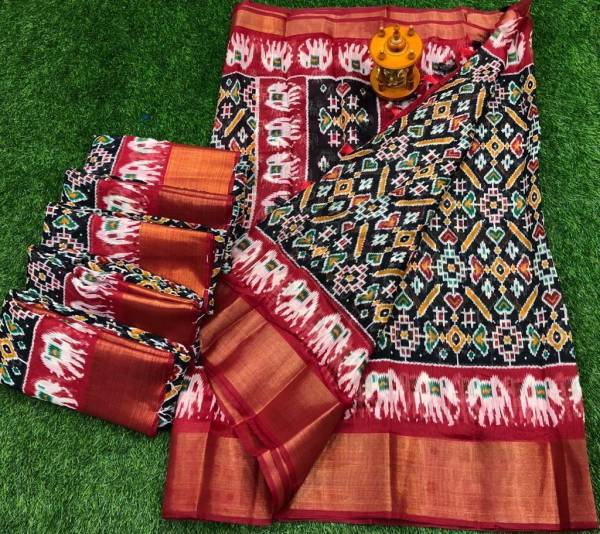 Manokamna Trendz Hati Series A1-D1 Soft Cotton With Printed Casual Wear Sarees Collection
