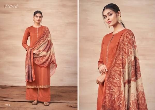 Itrana Paisley Affairs Jam Satin Digital Printe With Cotton Satin Fancy Palazzo Suits Collection