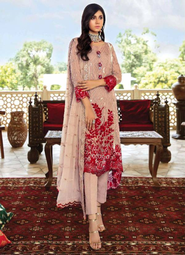 Serene Majestic Series 701-704 Faux Georgette Heavy Embroidery Designer Work Pakistani Suits Collection