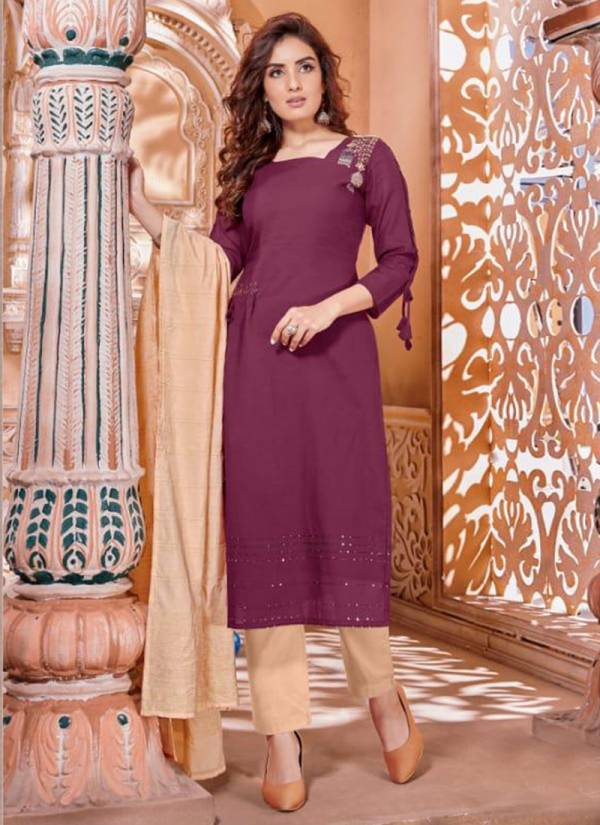 Selesta Nysha Series 1001-1005 Pure Cotton With Hand Work New Designer Readymade Salwar Suits Collection