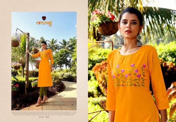 Nitisha Nx Mulmul Series 1001-1012 Heavy Soft Cotton Slub With Embroidery Work Straight Cut New Fancy Office Wear Kurtis Collection