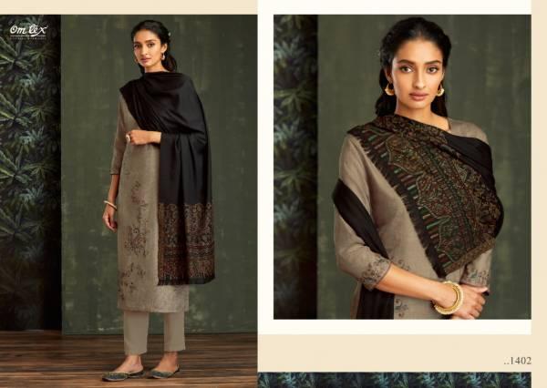 Om Tex Aadya Series 1401-1408 Latest Designer Pashmina Digital Print With Handwork Fancy Winter Suits Collection