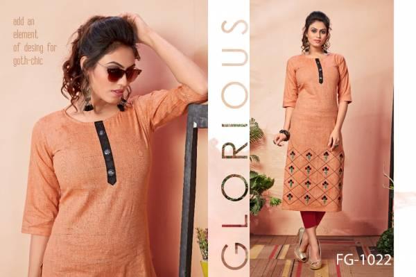 Fashion Galleria Krisha Vol 8 Series FG-1017 - FG-1023 Pure Khadi Cotton Designer Hand Work Exclusive Kurti Collection