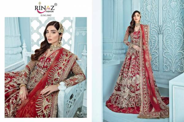 Rinaz Fashion Rimzim Vol 4 Series 5001-5005 Butterfly Net Heavy With Embroidery & Daimond Work Eid Special Pakistani Suits Collection