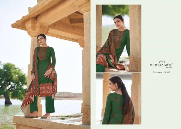 Mumtaz Arts Cashmere Jam Satin With Kashmiri Embroidery Work Salwar Suits Collection