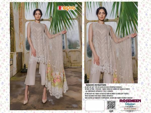 Fepic Rosemeen Chikankari Cotton Embroidery Work Pakistani Salwar Suit Collections