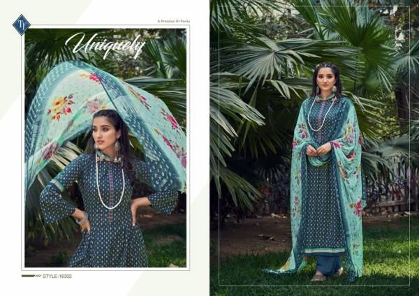 Tanishk Fashion Evoke Pure Lawn Cambric Cotton With Fancy Work Palazzo Suits Collection