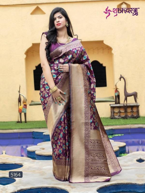 Shubh Vastra Royal Vol 1 Series 5161-5165 Banarasi Silk Exclusive Designer Wedding Wear Sarees Collection