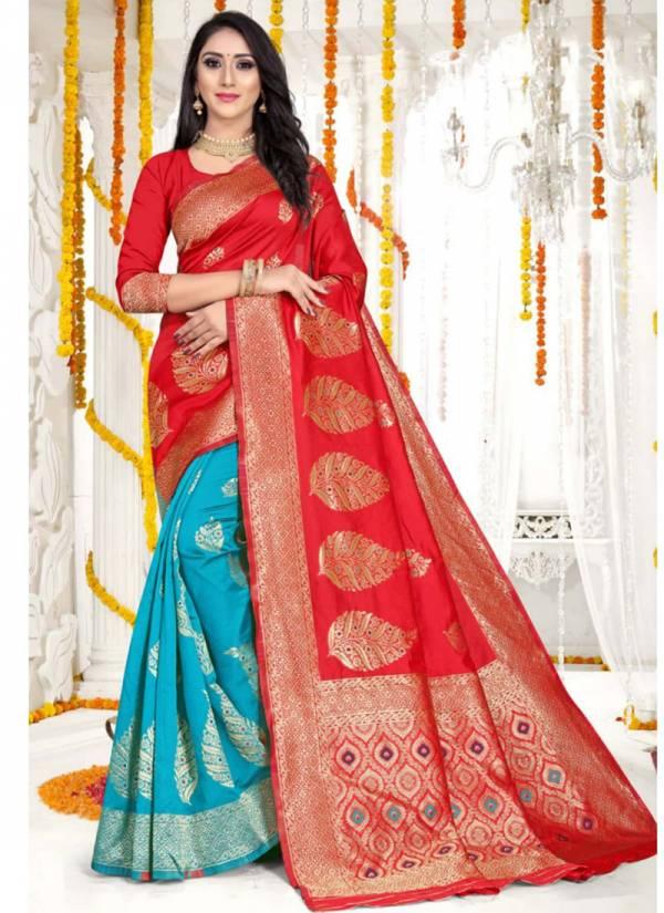 Kodas Melody Series 8154A-8154D Party Wear Handloom Jacquard Silk New look Sarees Collection