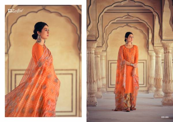 Zulfat Designer Jashn-E-Patiala Pure Cotton printed With Designer Work Palazzo Suits Collection