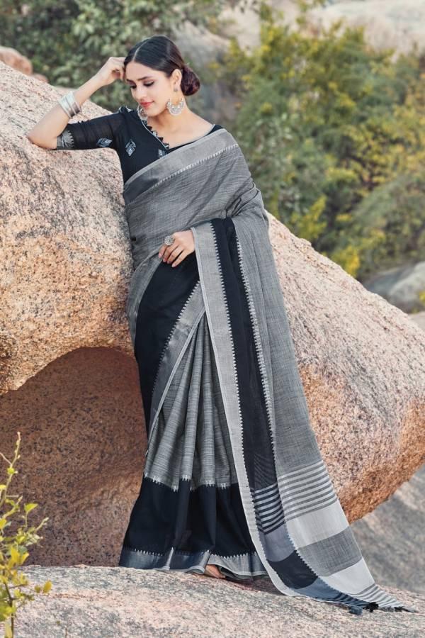 Sangam Kaaya  Fancy Linen Casual Sarees Collection