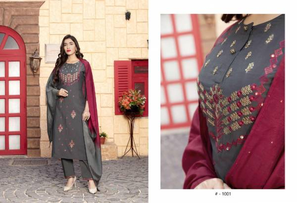 Sweety Fashion Spirit Chinon Print Fancy Embroidery Work Designer Salwar Suit Collection