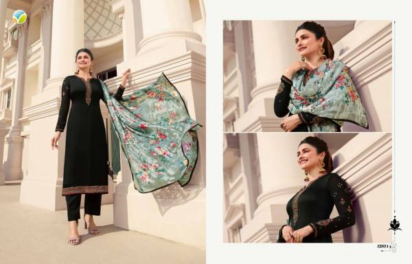 Vinay Fashion Kaseesh Tussar Satin With Brasso Dupatta Designer Palazzo Suits Collection