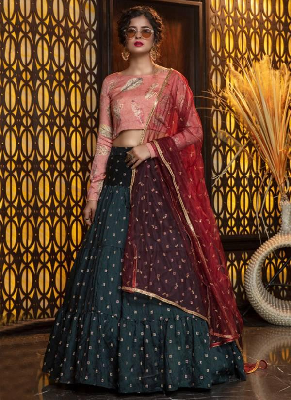 Khushbu Fashion Girly Vol 8 Series 1421-1427 Cotton Rayon Georgette Foil Print Emnbeoifry Sequence Work PArty & Wedding Wear Lehenga Choli Colletion