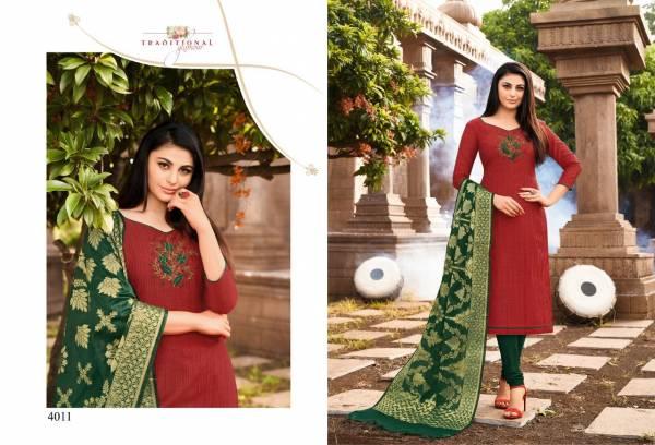Shagun Vaccine Vol 4 Fancy Daily Wear Slub Silk Churidar Suits Collection