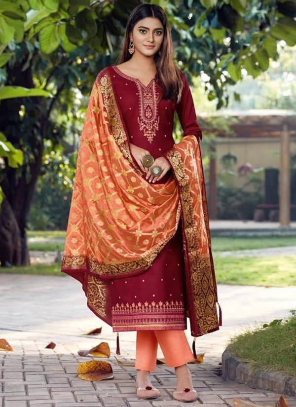 Kessi Ashopalav Vol - 16 Series 5621-5628 Jam Silk With Embroidery Work Latest Design Party Wear Suits Collection