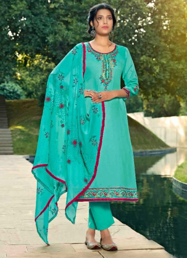 Kalarang Rajvi Series 1871-1874 Jam Silk Cotton Embroidery Work New Designer Straight Suits Collection