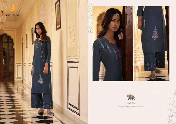 Stylemax Vintage Vol 6 Heavy Rayon With Fancy Embroidery Work Kurtis With Pants Collection
