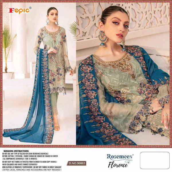 Fepic Florence Faux Georgette With Designer Work Eid special Pakistani Suits Collection