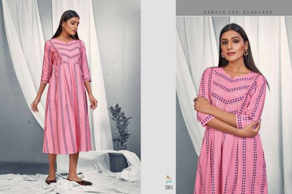 Dovi Fashion Maple Cotton Lino Fancy Digital Printed Regular Wear Designer Kurti Collection