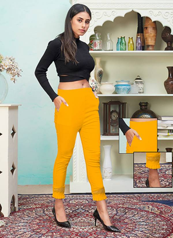 An Bazaar Series 401-411 Strechable Rayon New Designer Casual Wear Pencil Pants Collection