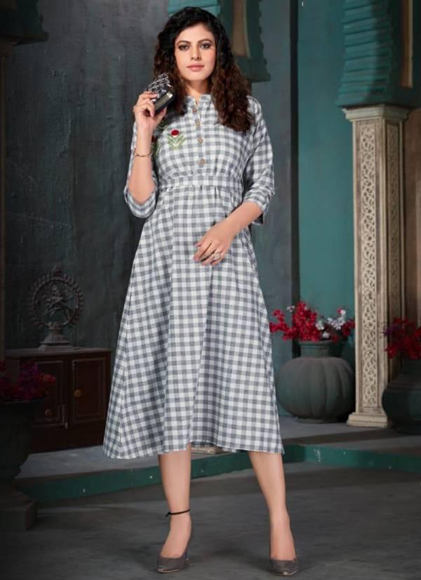 Lilly Ginni Ramola Cotton Print Midi Style With Kali Mundi Traditional Wear Floor Length Kurti Collections