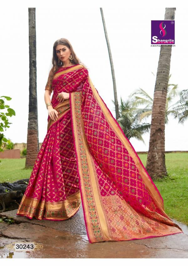 Shangrila Raagsutra Silk Series 30241-30246 Weaving Zari Silk Two Tone Traditional Wear Sarees Collection