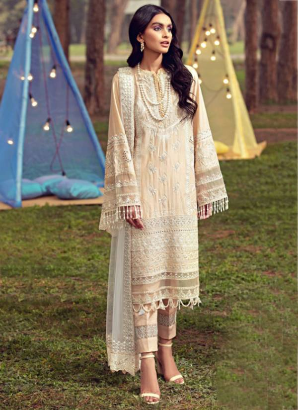 Noor Fashion Pure Cotton With Self Embroidery Work Fancy Wedding Wear Designer Pakistani Suits Collection