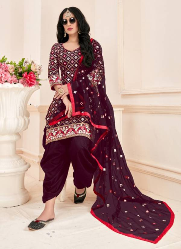 Seven Elegance Babita Vol 1 Series 1001-1004 Jam Cotton With Embroidery Sequence Work With Real Mirror Work Readymade Suits Collection