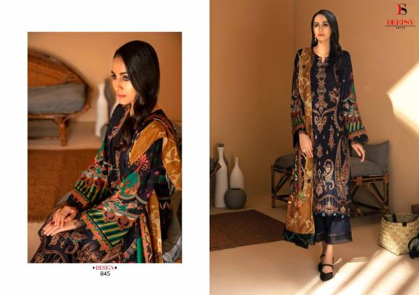 Deepsy Elan Vol 12 Series 841-846 Silk Digital Print With Designer Embroidery Work Festival Wear Pakistani Suits Collection