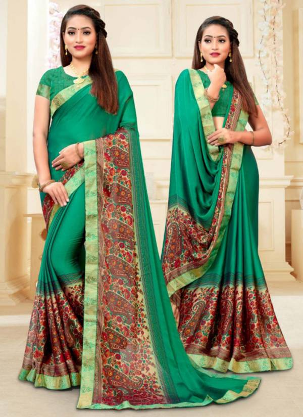 Kodas Unnati Moss Chiffon Fancy Printed Regular Wear sarees Collection