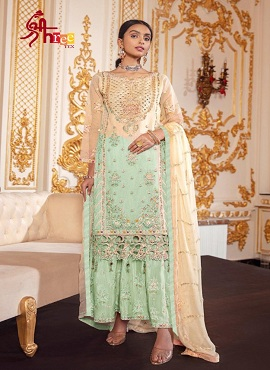 Shree Tex 128 Heavy Net With Embroidery Sequence Work Pakistani Suits Collection