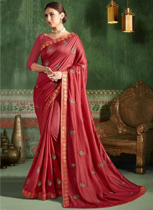 Saroj Autograph Series 90001-90008 Vichitra Silk New Designer Fancy Butti Work Reception Wear Sarees Collection