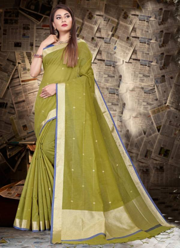 Ladys Ethnic Isha Series 3601-3609 Linen Silk With Designer New Casual Wear Sarees Collection