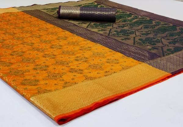 Nakshatra Fashion Studio Banarasi Patola With Zari Weaving Reach Pallu Party Wear Designer Sarees Collection