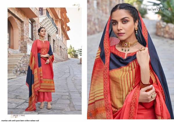 Mumtaz Arts Arsh Pure Lawn Cotton Digital Print With Embroidery Work Salwar Suits Collection