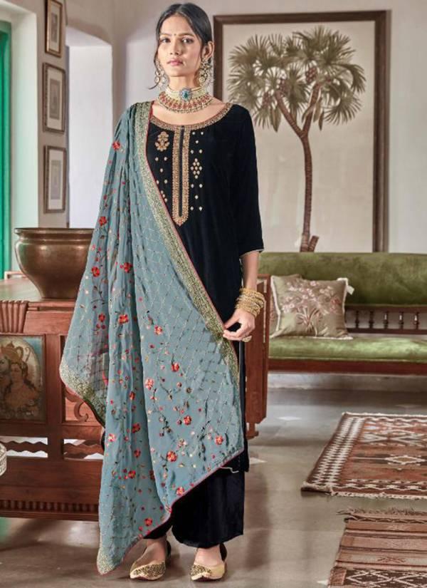 Maisha Maskeen Swaragini Vol 2 Series 9101-9106 Velvet Stylish WOrk Traditional Wear Suits Collection