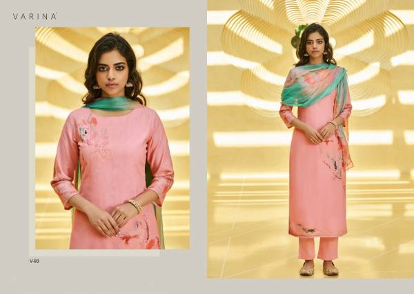Varina Aileen Cotton Satin With Hand Work Fancy Daily Wear Suits Collection