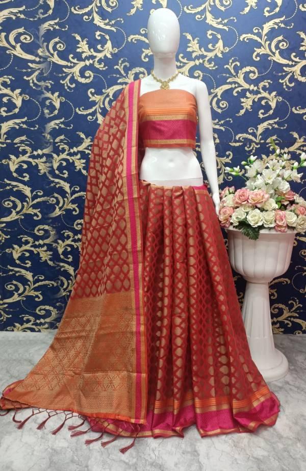 Shiv Enterprise  KumKum Cotton Silk Festival Wear Sarees Collection