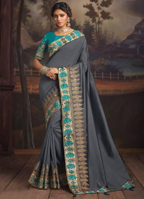 The Fashion Hub Rajkumari Series 9109-9116 Party Wear New Designer Fancy Border Work Silk Sarees Collection