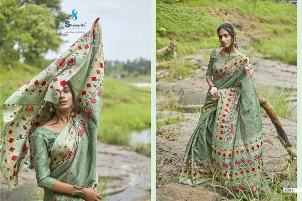 Shangrila Rashmi Satin Georgette With Fancy Digital Printed Sarees Collection
