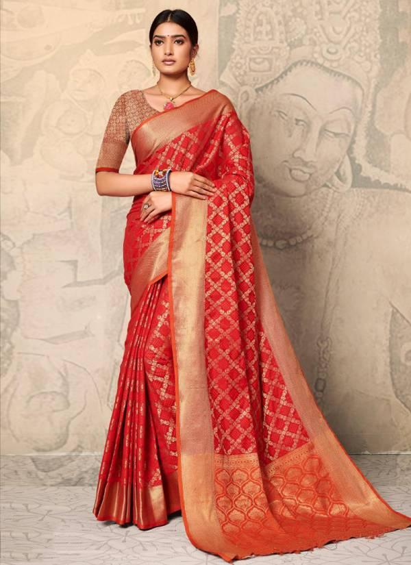 Mintorsi Gracia Series 23021-23026 Soft Banarasi Silk Latest Designer Festival Wear Sarees Collection